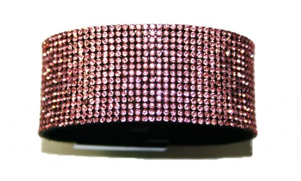 Diamante crystal bling cuff bracelet kit - Baby pink -- c4009003kit